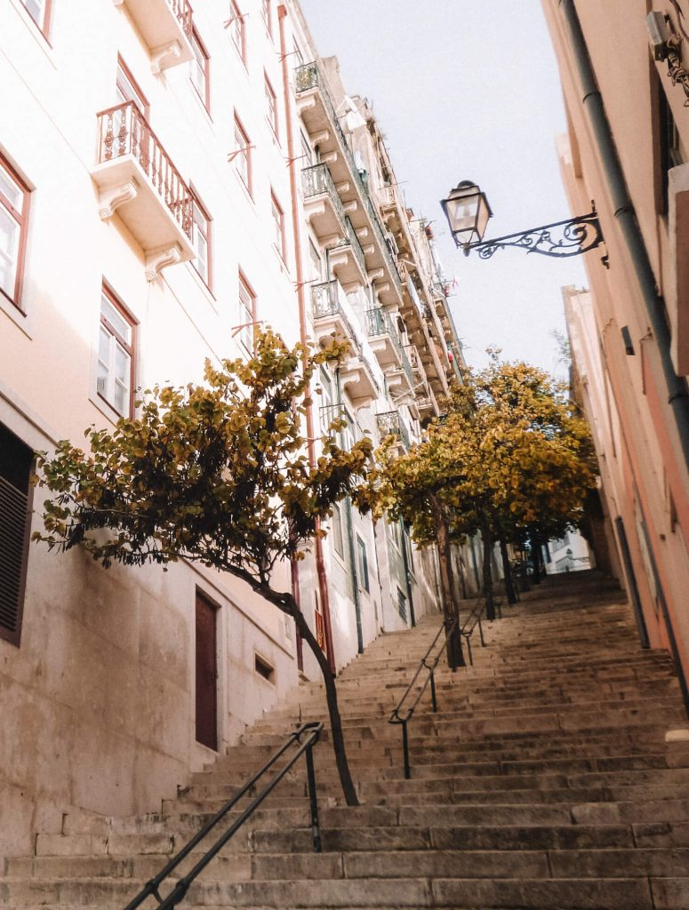 Geting lost in the little steep streets of Alfama in Lisbon