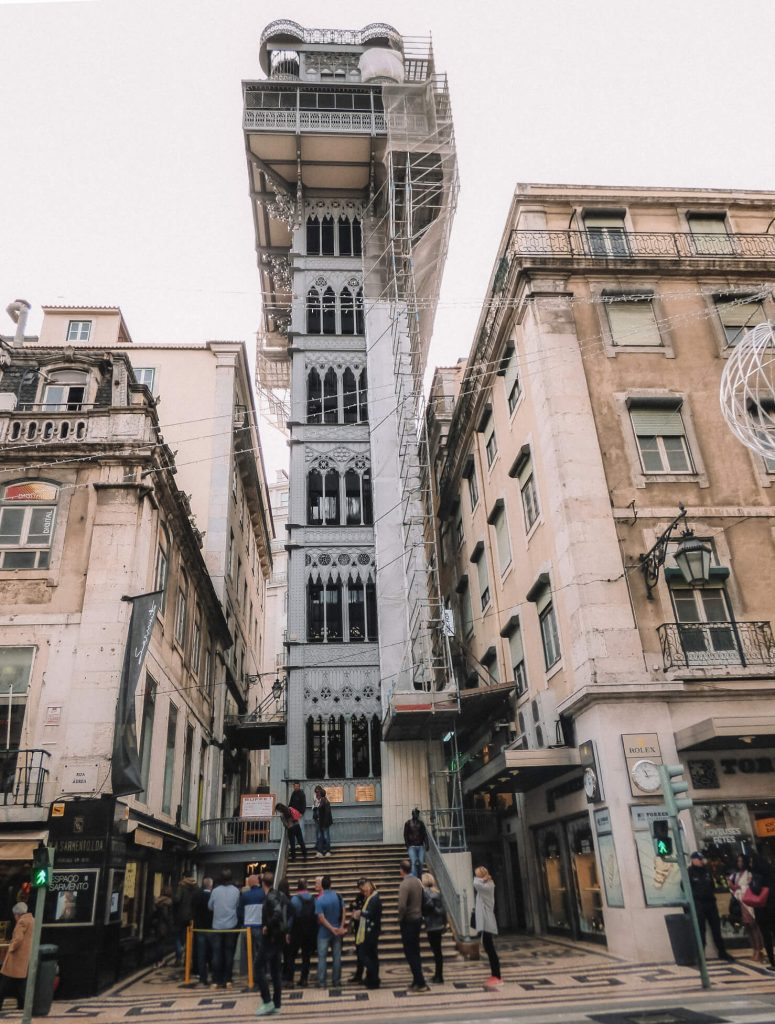 The beautiful Santa Justa Elevator is one of the top things to do in Lisbon in 48 hours