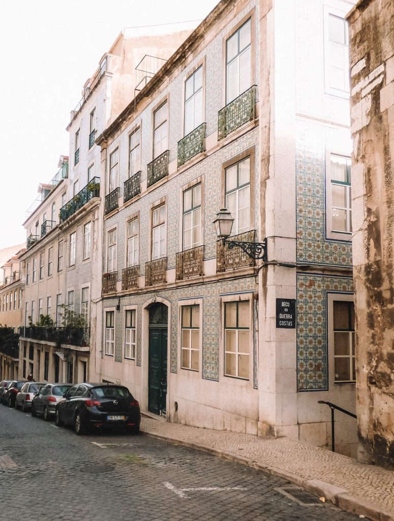 Admiring the azulejo decorated buildings in Alfama is one the top things to do in Lisbon in 48 hours