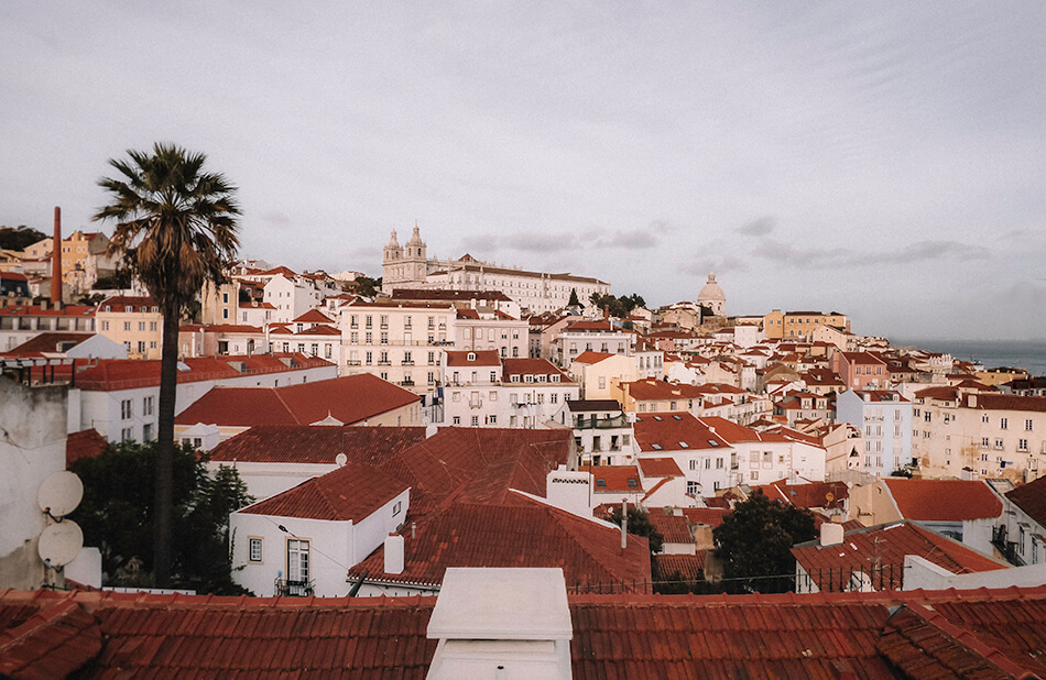 Without a doubt the best viewpoint in Lisbon, overlooking the Alfama neighbourhood