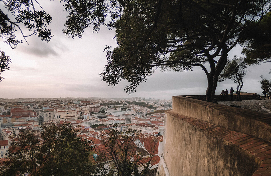 Amazing panoramas from the terrace of Castle Sao Jorge, Lisbon