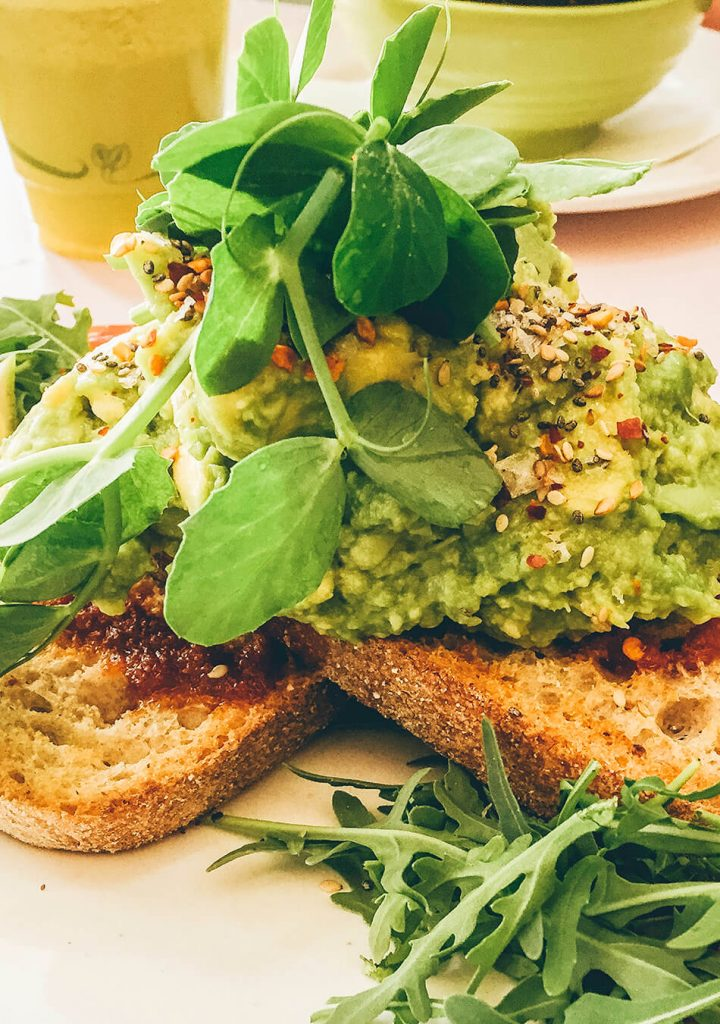 For the best avocado on toast, head out for breakfast at the Hula Juice Bar