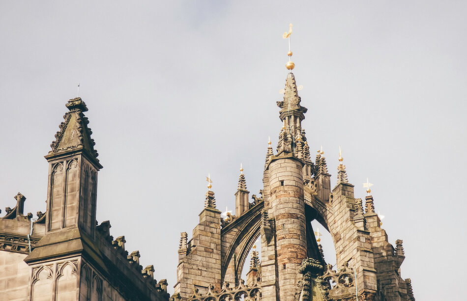 Saint Giles' Cathedral on the Royal Mile in Edinburgh