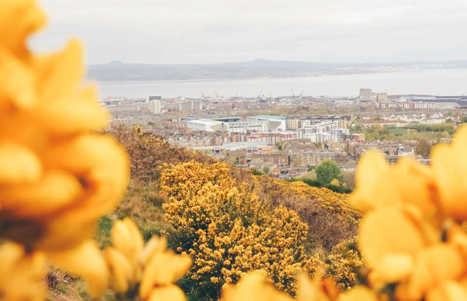 View over Edinburgh from Arthur's Seat
