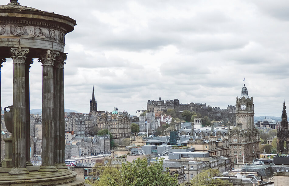Views from Calton Hill in Edinburgh