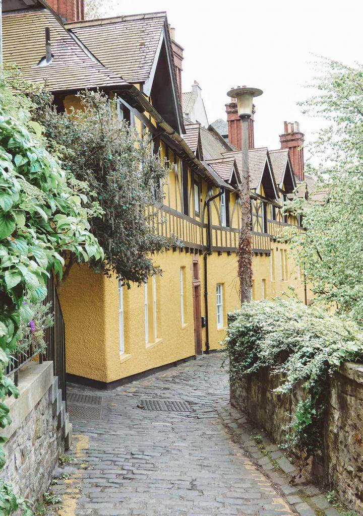 Cute houses in Dean Village, Edinburgh