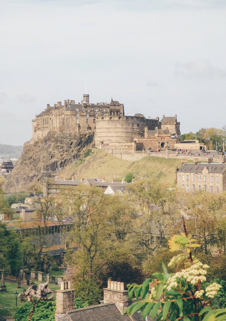 View of Edinburgh Castle from rooftop National Museum of Scotland