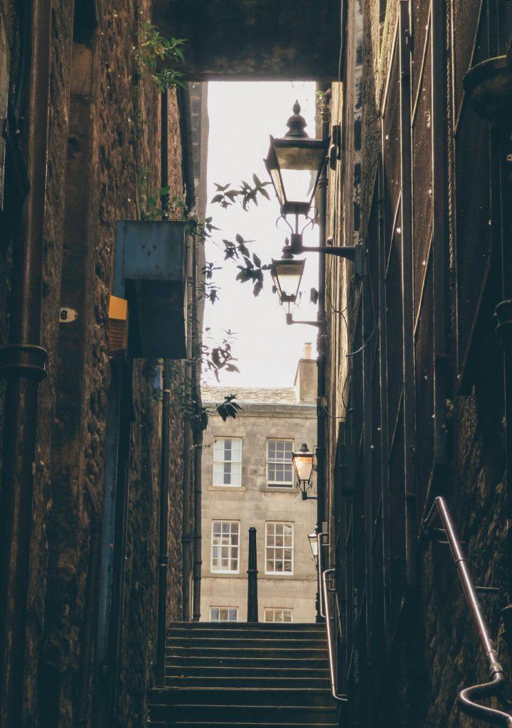 Narrow passageways in Edinburgh