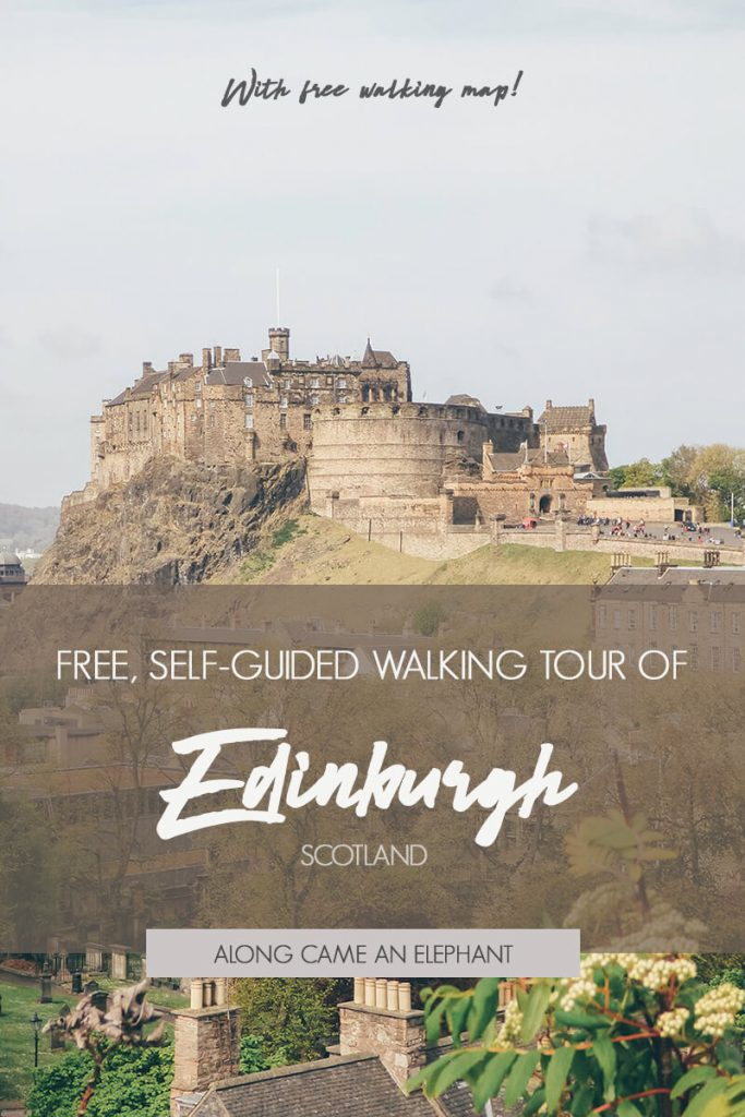 Complete Guide To Edinburgh Scotland with free self-guided walking tour that will take you along Edinburgh's highlights. Includes a free walking map! #Scotland #Travel #Edinburgh