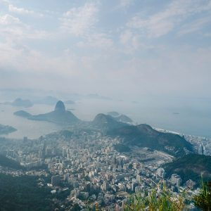 Amazing view over Rio de Janeiro from Christ Redeemer in Brazil