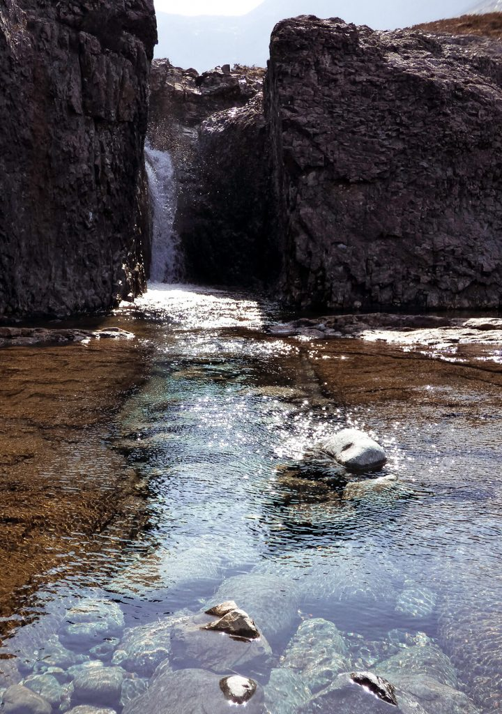 Chasing waterfalls at the fairy pools