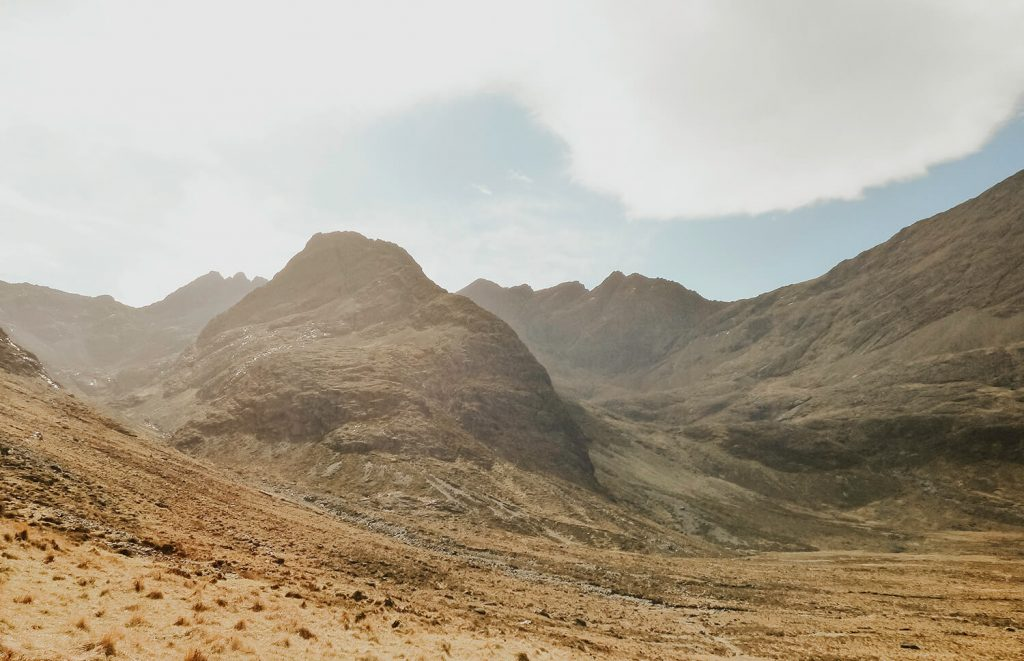 Beautiful scenary and history at the Fairy Pools on the Isle of Skye