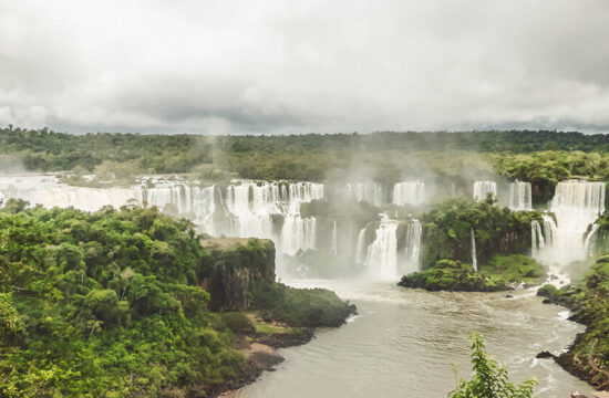 View over the Iguaçu Falls from the Brazilian side