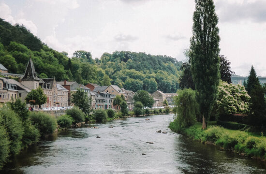 The quaint rustic town of Remouchamps