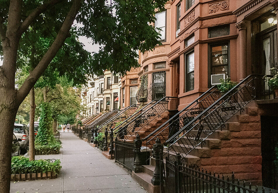 Gorgeous Brownstone houses in brooklyn