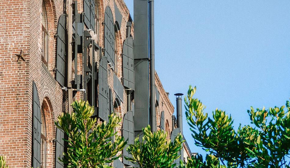 Industrial buildings in red Hook, Brooklyn