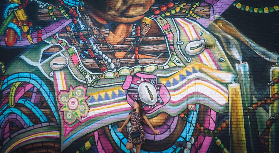 Open air art in Bushwick, Brooklyn