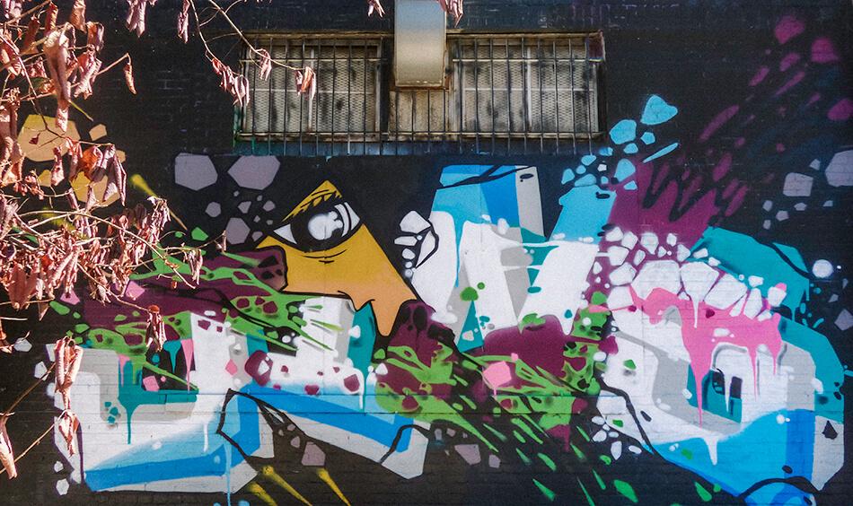 Open air museum of murals in Bushwick, Brooklyn