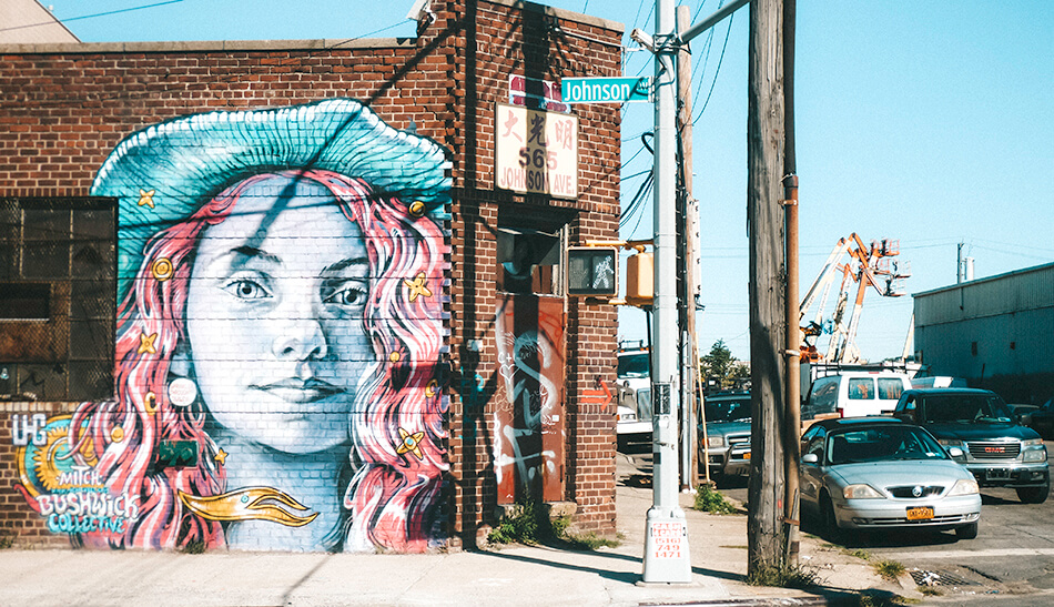 Walking through an open air museum of murals in Bushwick, Brooklyn
