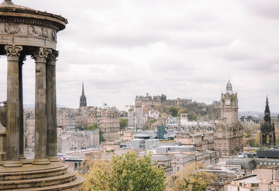 View from Calton Hill Edinburgh Scotland