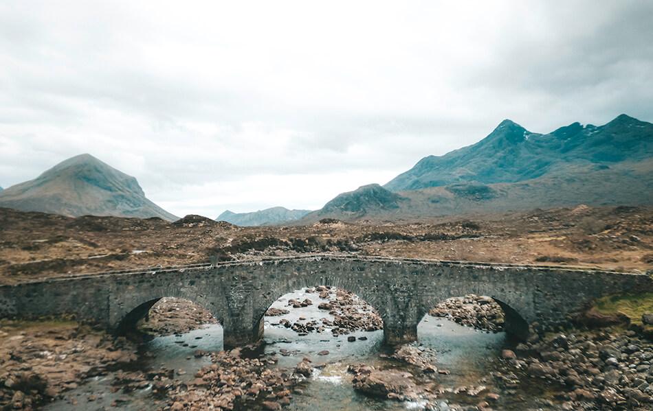 Sligachan Brige on the Isle of Skye