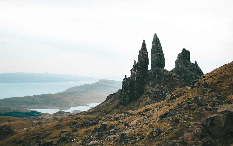 View of Old Man Of Storr on the Isle of Skye