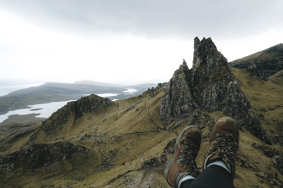 Hiking the Old Man of Storr on the Isle of Skye