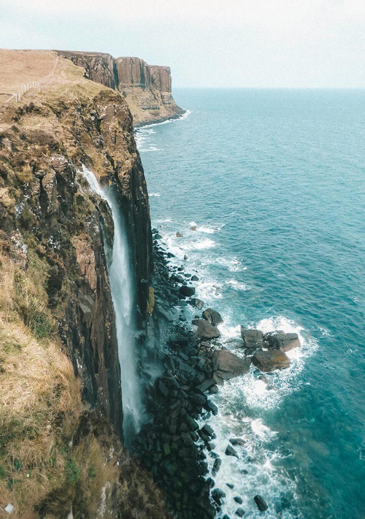 Rest break at Kilt rock and amazing waterfalls, Isle of Skye