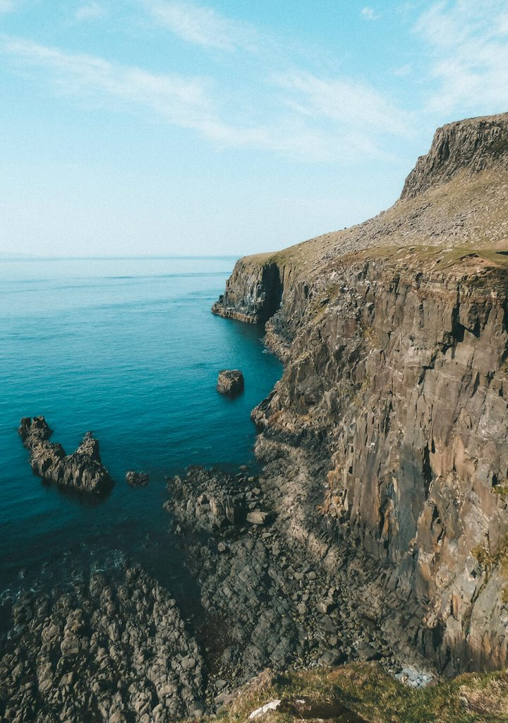 Spectacular cliffs on the Isle of Skye