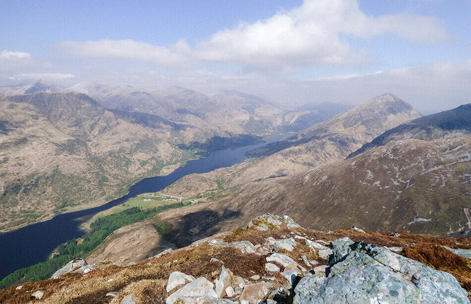 View from Pap of Glencoe hike