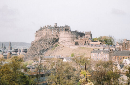 View of Edinburgh Castle from the Scottish National Museum