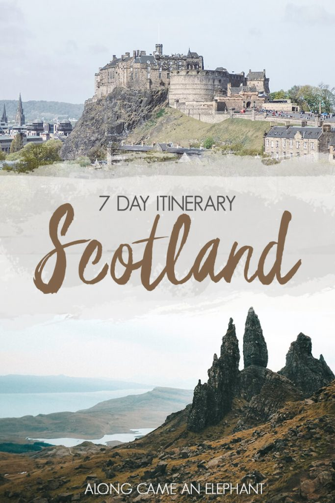 A spectacular 7 day road trip itinerary through Scotland that cover Edinburgh, Isle of Skye and Glencoe. #roadtrip #scotland #edinburgh #highlands #scottishhighlands #scotspirit #highlandcollective #travel #scotlandroadtrip #glencoe #isleofskye