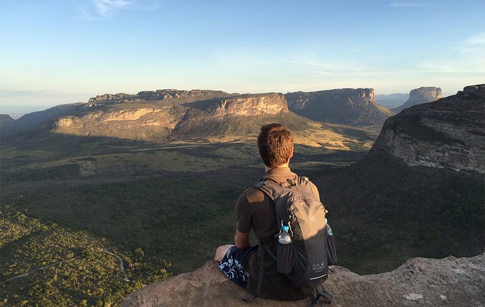 Why I love to travel: Enjoying the view in Chapada Diamantina National Park, Brazil