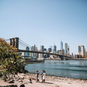 Getting married at the Brooklyn Bridge in New York