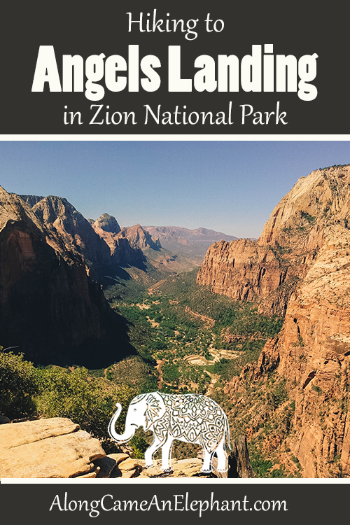Pinterest article on hiking Angels Landing