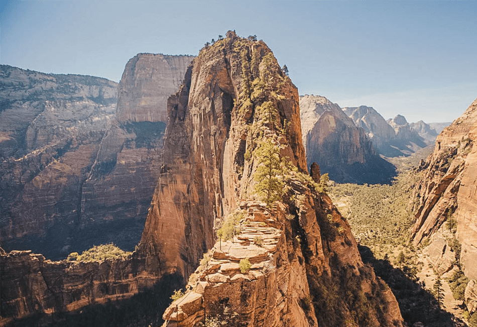 The looming spine towards Angels Landing