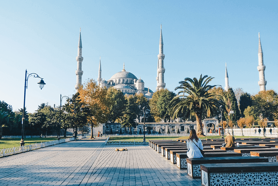 What to do in Istanbul: Gawking at the Blue Mosque in Istanbul