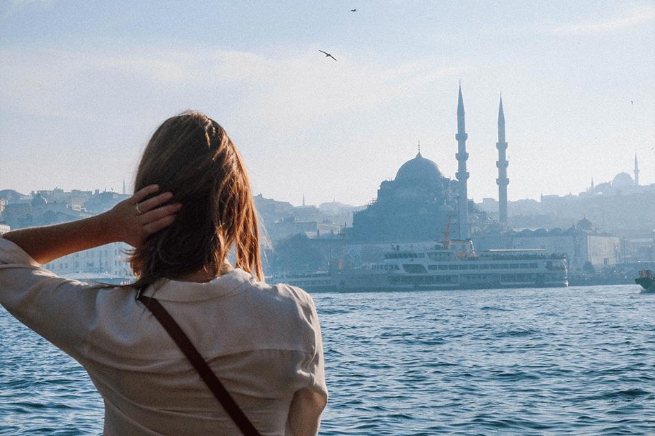 Gazing over the Bosphorus from Karakoy enjoying the call of prayer