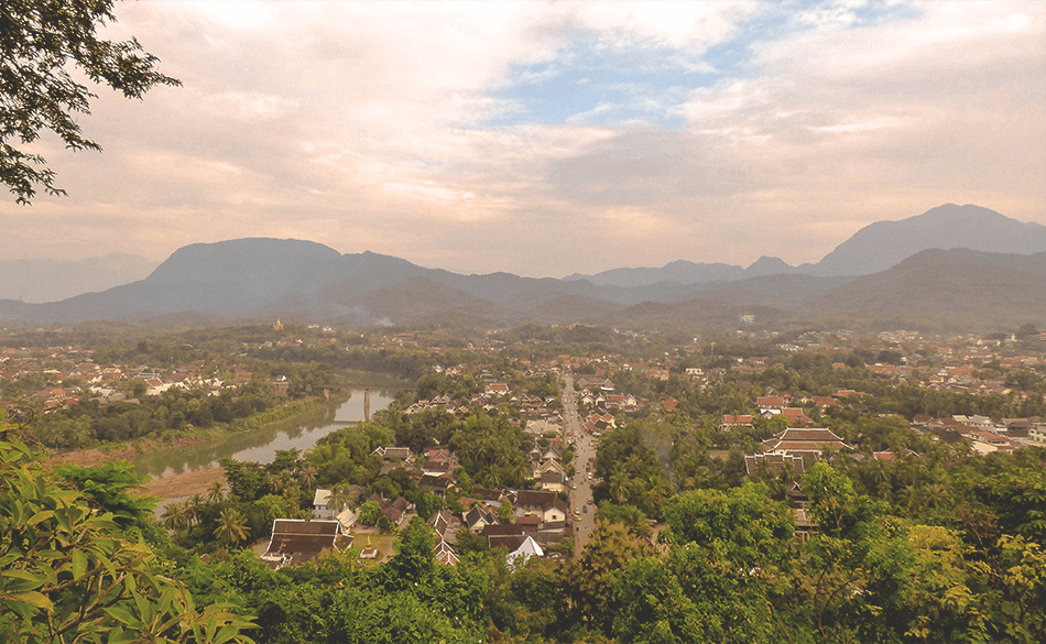 Enjoying the sunset over Luang Prabang from Phousi hill