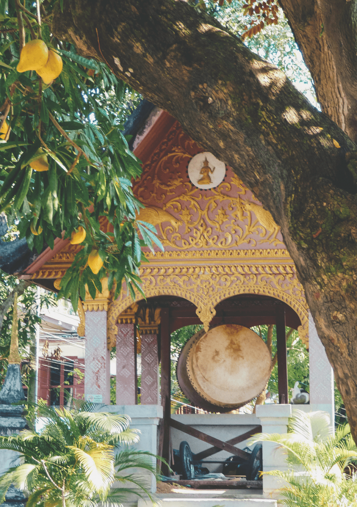 Visiting temples in Luang Prabang, Laos