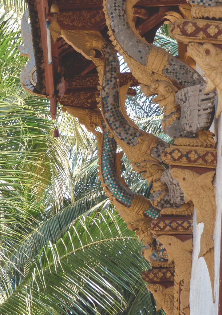 Decoration details of the temples in Luang Prabang, Laos