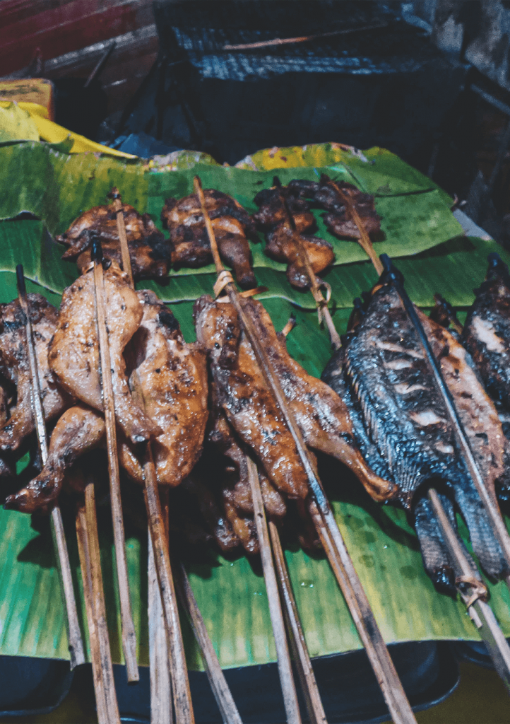 Night market streetfood in Luang Prabang, Laos