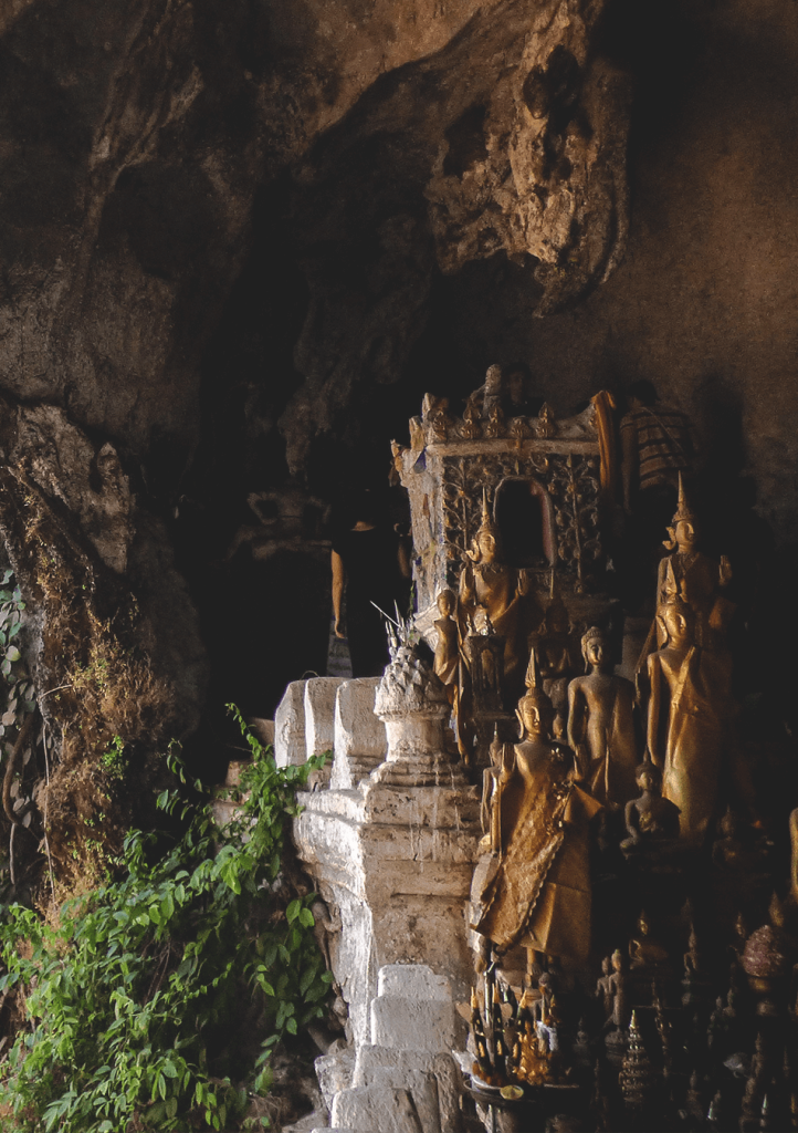 Hundred of Buddha statues in the Pak Ou Caves, Luang Prabang