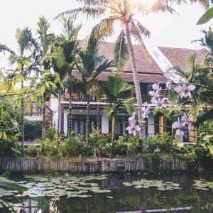 Spectacular scenery of the Maison Dalabua estate in Luang Prabang, Laos