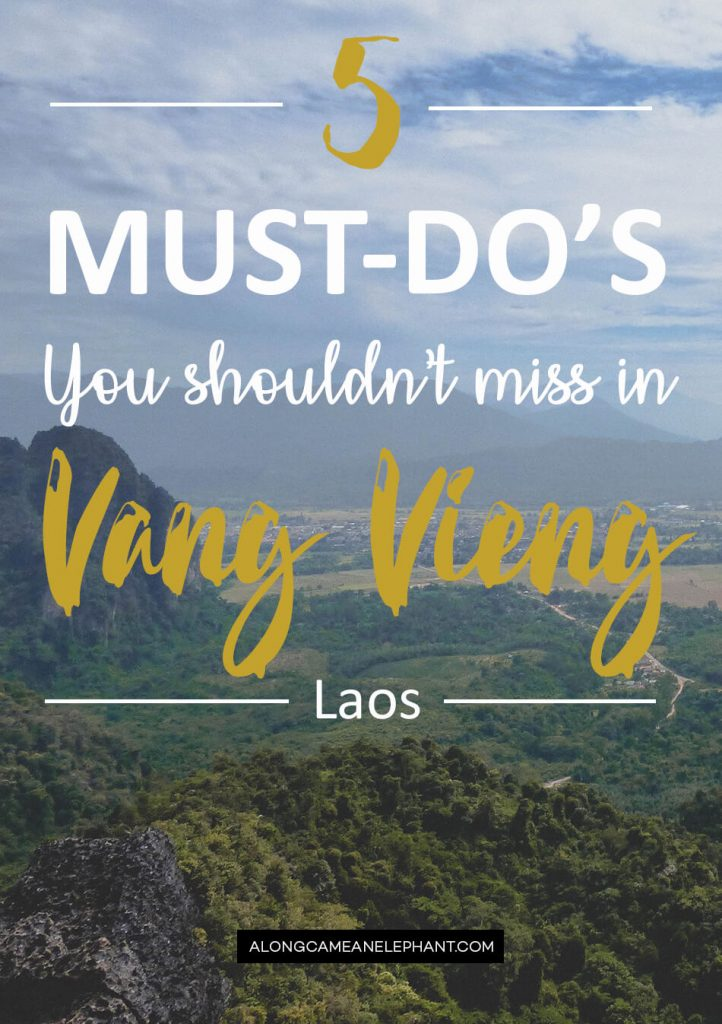 Pinterest visual on how to motorbike through Vang Vieng, Laos