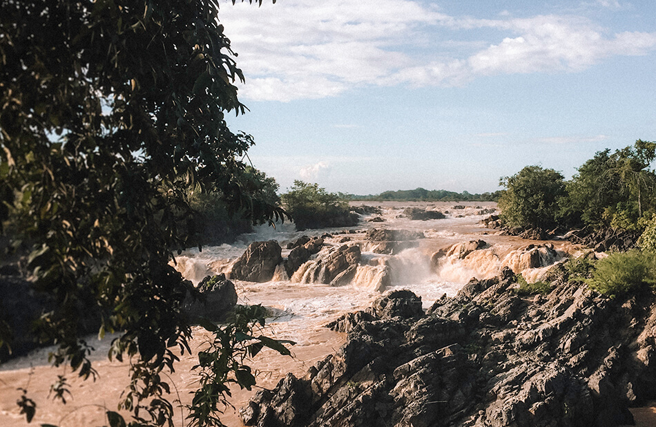 Roaring rapids of the Khone Phapheng Fall on Don Khone Island, 4000 Islands