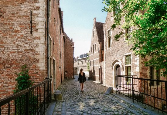 strolling through the Grand Beguinage of Leuven, Belgium