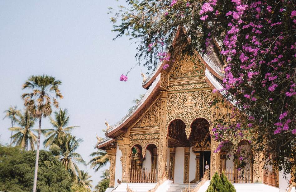 Amazing temple at the Royal Palace in Luang Prabang