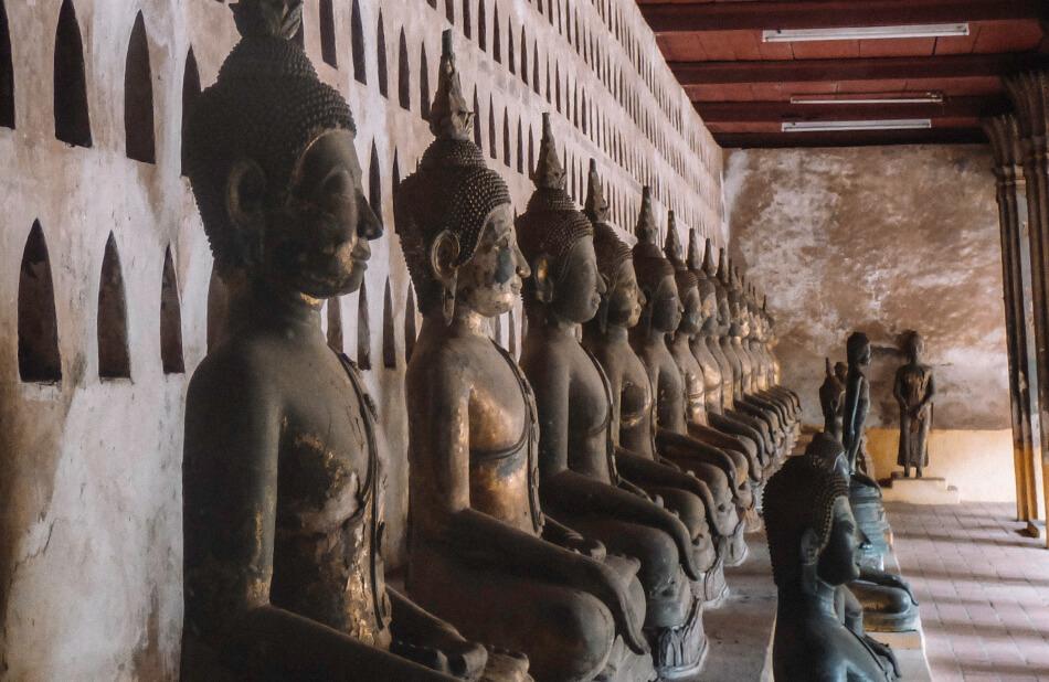 Buggha statues in Vientiane