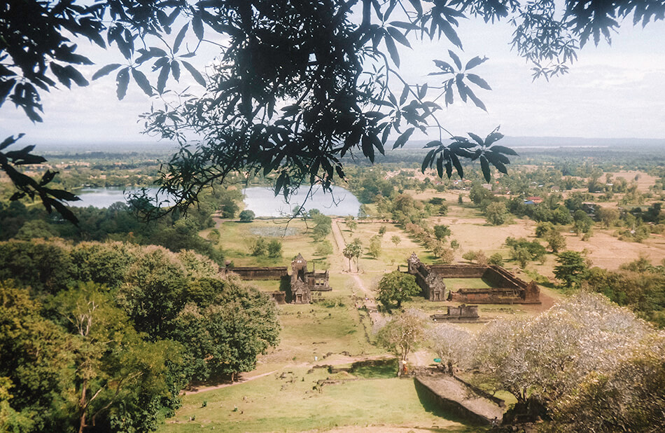Ancient Khmer ruis at What Phou temple complex near Pakse in Laos, the Bolaven Plateau